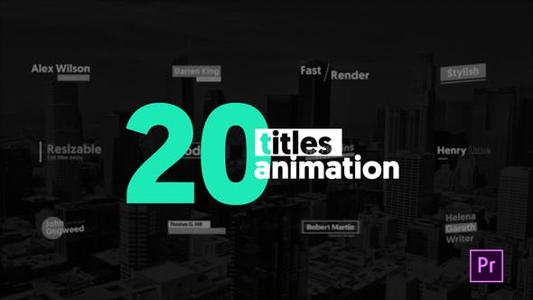 Thumbnail for 20 Animated Titles / MOGRT
