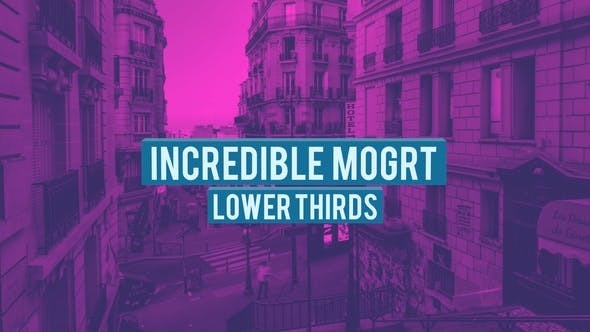 Thumbnail for 4K Incredible Lower Thirds | MOGRT
