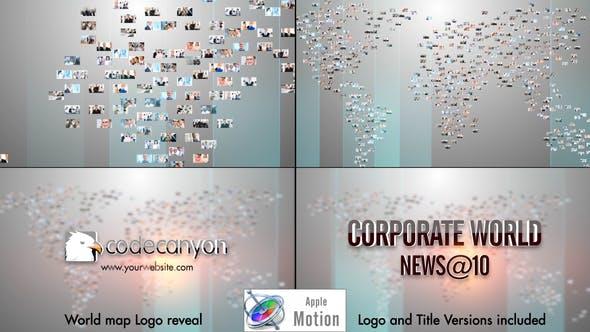 World Map Video Image Logo - Apple Motion