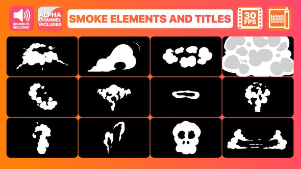 Smoke Elements And Titles