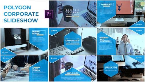 Simple Polygon Corporate Slideshow - Premiere Pro