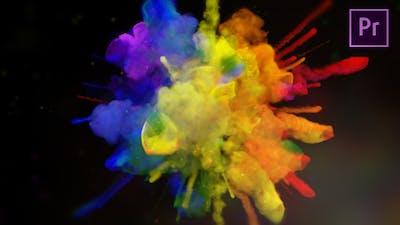 Exploding Colors Logo Reveal - Premiere Pro