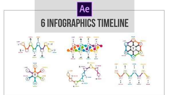 Thumbnail for Infographics 6 Roadmaps Template