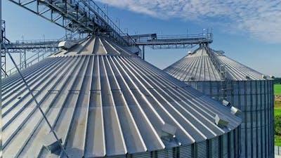 Grain Elevator at Modern Factory