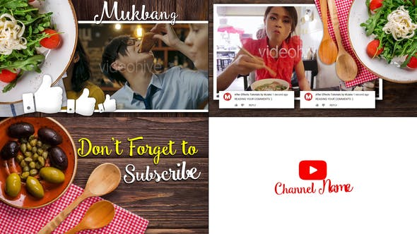 Thumbnail for Mukbang Food Youtube Intro