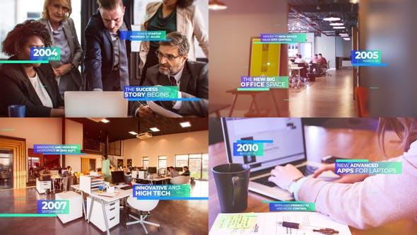 Thumbnail for Modern Corporate Timeline Presentation