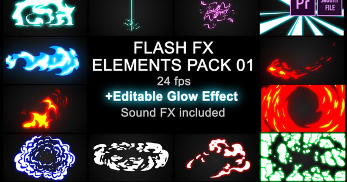 Download Flash FX Elements Pack 01 by MisterFlashAnimation