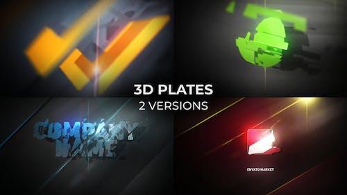 3D Plates Logo