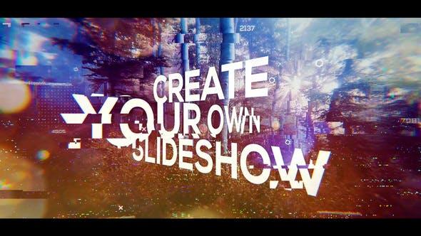 Glitch Big Titles Slideshow