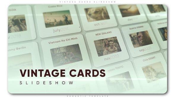 Thumbnail for Presentación de diapositivas de tarjetas vintage