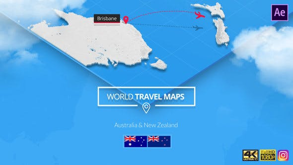 Thumbnail for World Travel Maps - Australia and New Zealand
