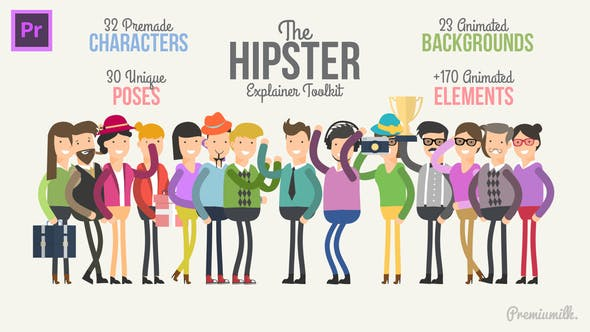 Thumbnail for Hipster Explainer Toolkit Essential Graphics | Mogrt