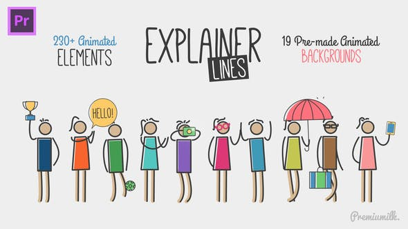 Thumbnail for Explainer Lines Essential Graphics | Mogrt