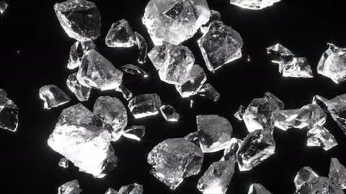 Crystal Burst Realistic Ice Rock Star Explode