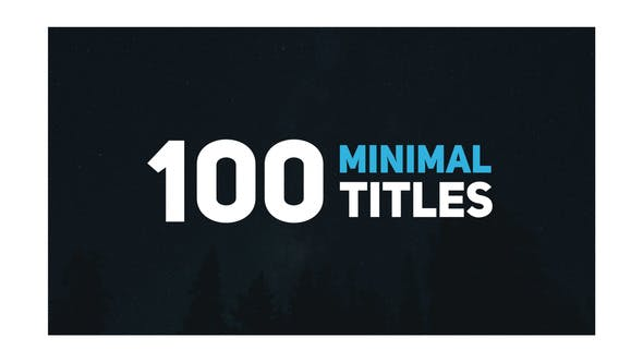 Thumbnail for 100 Minimal Titles