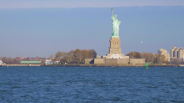 Thumbnail for Statue of Liberty in the Sunny Day. New York City. View From the Water