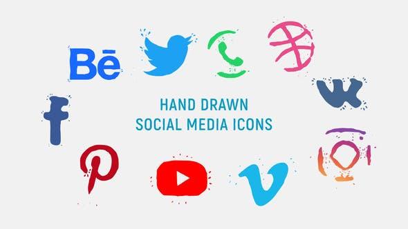 Thumbnail for Hand Drawn Social Media Icons