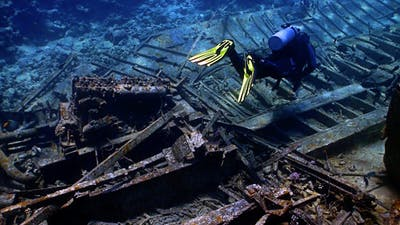 Shipwreck On The Seabed