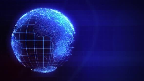 Thumbnail for Digital Globe Rotating