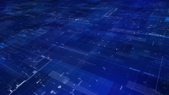 Blueprint Digital Technology Background