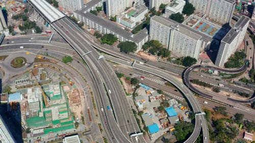 Top down view of Hong Kong