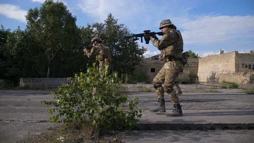 Special Forces Rangers Storming Enemy Position