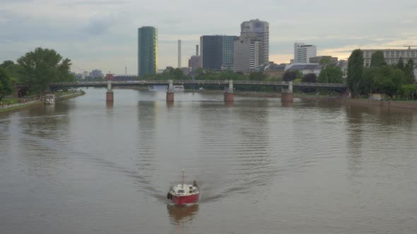Thumbnail for Frankfurt Cityscape with the Main River, Germany