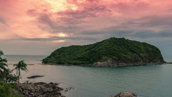 Thumbnail for Tropical island Ko Ma at beautiful sunset in Koh Phangan island, Thailand