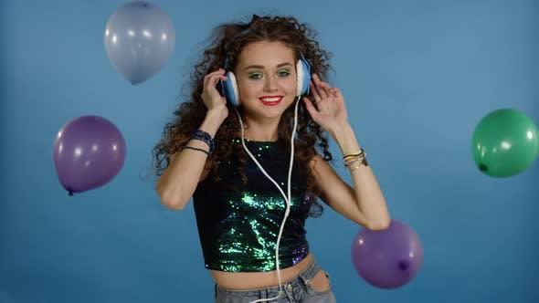 Thumbnail for Disco Girl Dance in Headphones