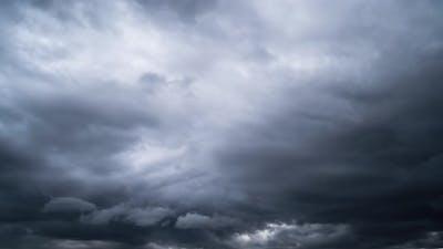 Storm rain clouds, time-lapse