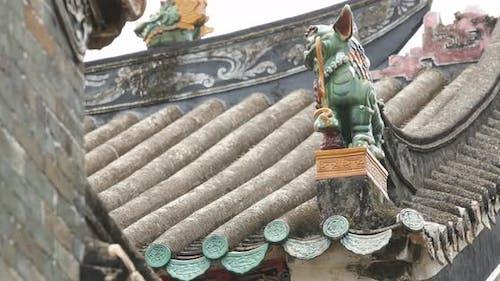 Dachziegel des chinesischen Gebäudes
