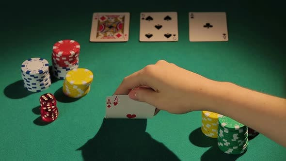 Thumbnail for Experienced Gambler Using Risky Bluff Strategy to Win More Money in Poker Game
