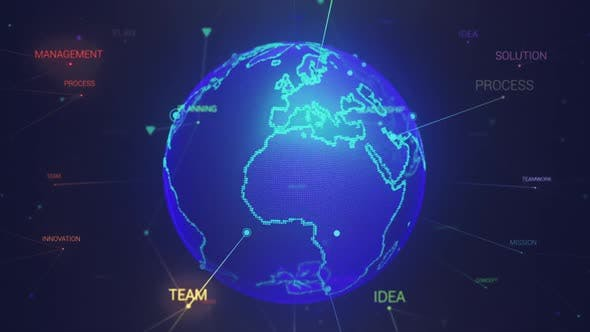 Thumbnail for Earth Globe With Business Words Loop
