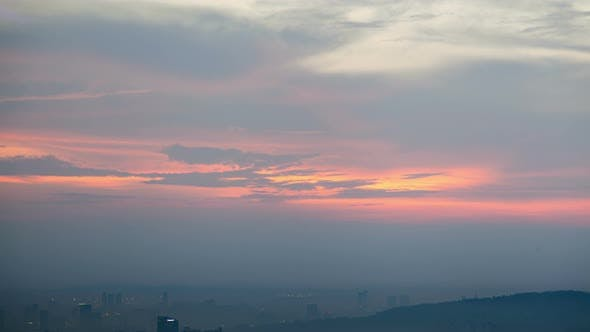 Thumbnail for Cloudscape Sunset with Urban Silhouettes  of Kuala Lumpur City