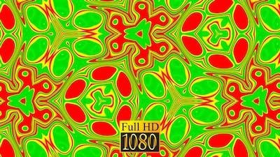 Kaleidoscope Pattern Green Loop HD