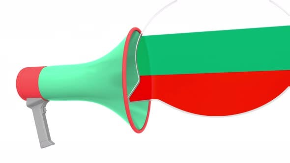 Megaphone and Flag of Bulgaria on the Bubble
