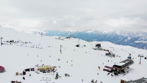 Thumbnail for Drone Motion of Winter Ski Resort.