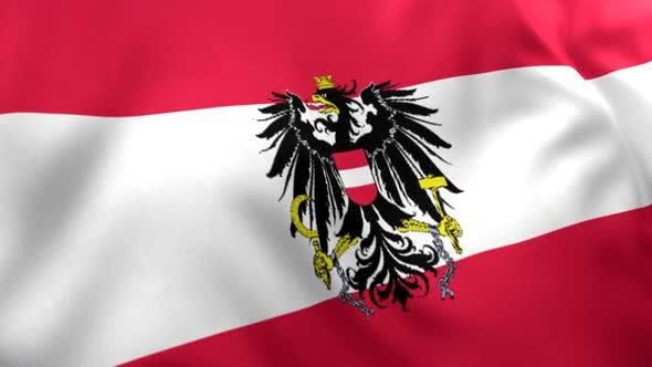 Thumbnail for Austria Flag with Emblem