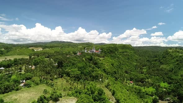 Thumbnail for Aerial view of Monastery of the Holy Eucharist, Sibonga, Philippines.