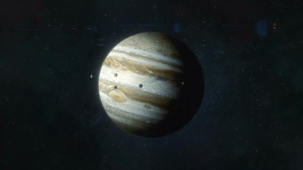 Thumbnail for Approaching the Planet Jupiter - Gas Giant