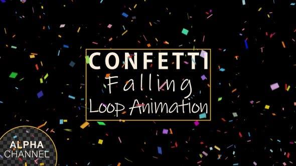 Thumbnail for Multi Colored Confetti Falling Loop