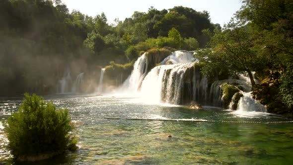 Skradinski Buk Waterfall in Krka  Croatia