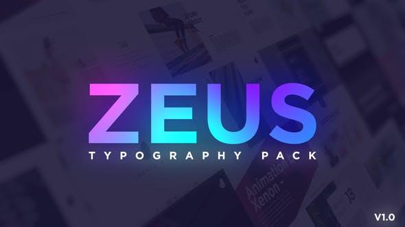 Minimal Typography Pack   Zeus