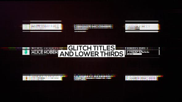 Glitch Titles and Lower Thirds