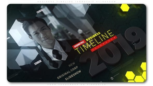 Thumbnail for Business Timeline Isometric Slideshow