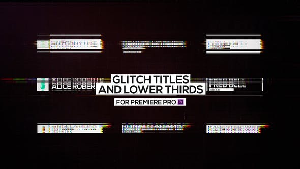 Thumbnail for Glitch Titles and Lower Thirds for Premiere Pro