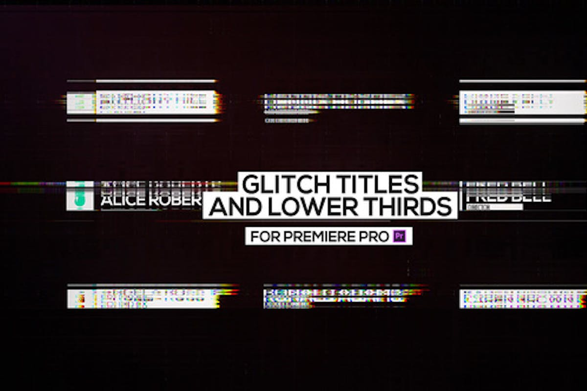 30 Glitch Text Presets For Premiere Pro   Mogrt by