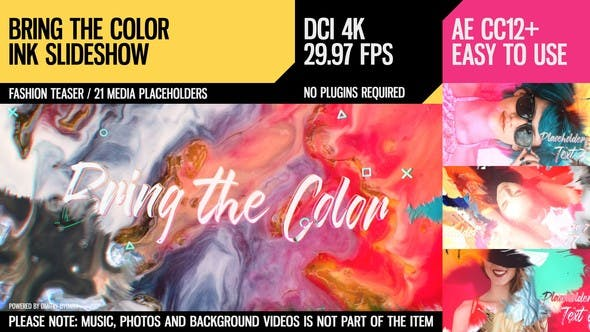 Bring the Color (4K Ink Slideshow) - product preview 0