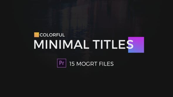 Colorful Minimal Titles For Premiere Pro