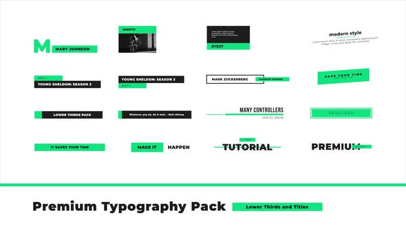 Thumbnail for Premium Typography Pack
